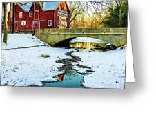Kirby's Mill Landscape - Creek Greeting Card