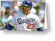 Kirk Gibson, Los Angeles Dodgers Greeting Card