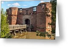 Kirkby Muxloe Castle Greeting Card