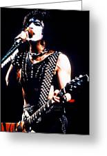 Kiss In Concert Greeting Card