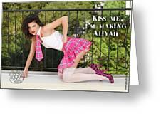 Kiss Me Im Making Aliyah Greeting Card