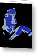 Kiss Of The Blues Greeting Card