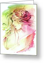 Kiss Of Wind Greeting Card