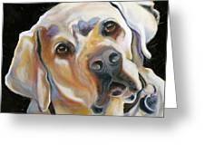 Kissably Close Lab Greeting Card by Susan A Becker