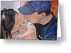 Kisses For Baby Greeting Card by Terri Thompson