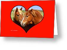 Kissin' Cousins Greeting Card by Clif Jackson