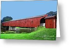 Kissing Bridge Of West Montrose Greeting Card