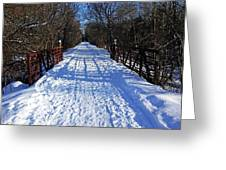 Kissing Bridge Trail Greeting Card