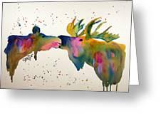 Kissing Moose Greeting Card