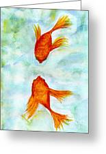 Kissy Fish Greeting Card