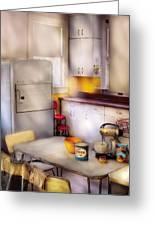 Kitchen - A 1960's Kitchen  Greeting Card