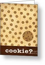 Kitchen Art - Cookie Greeting Card by Linda Tieu
