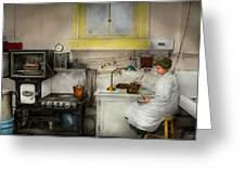 Kitchen - How I Bake Bread 1923 Greeting Card