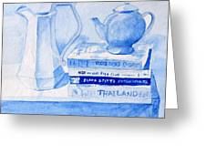 Kitchen In Blue Greeting Card