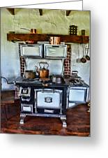 Kitchen - The Vintage Stove Greeting Card