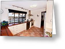 Kitchen With A River View Greeting Card