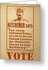 Kitchener Redux - Vote Greeting Card