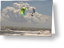 Kite Boarding Buxton Obx  Greeting Card