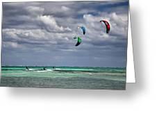 Kite Sufers Three Greeting Card