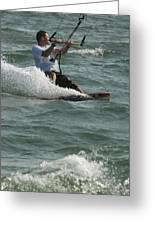 Kite Surfing 3 Greeting Card