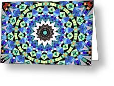 Kite Tiles Mandala Greeting Card