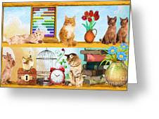 Kitten Hideout Greeting Card
