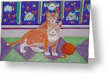 Kittens With Wild Wool Greeting Card