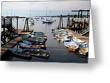 Kittery Point Fishing Boats Greeting Card