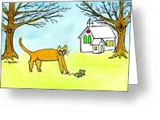 Kitty And The Mouse Greeting Card