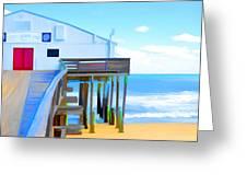 Kitty Hawk Pier 2 Greeting Card