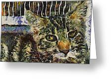 Kitty Vangoghed Greeting Card