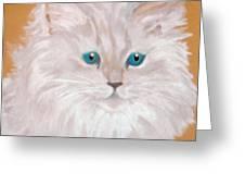Kitty White Greeting Card