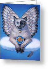 Kitty Yin Yang- Cat Angel Greeting Card