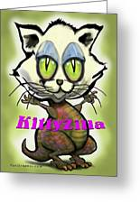 Kittyzilla Greeting Card