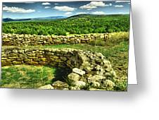 Kiva And View Pecos Ruins New Mexico Greeting Card