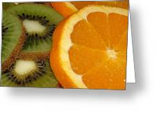 Kiwi And Orange Greeting Card