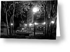 Kleman Plaza At Night Greeting Card