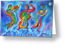 Klezmer On The Roof Greeting Card