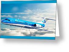 Klm F70 Cityhopper Greeting Card