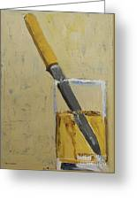 Knife In Glass - After Diebenkorn Greeting Card