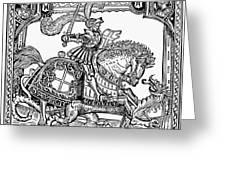 Knights: English, 1527 Greeting Card