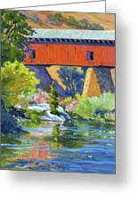 Knights Ferry Bridge Greeting Card