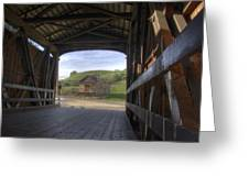 Knights Ferry Covered Bridge Greeting Card