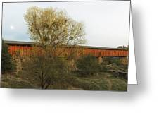 Knights Ferry Wooden Bridge - California Greeting Card