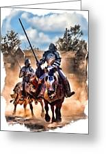Knights Of Yore Greeting Card by Tom Schmidt