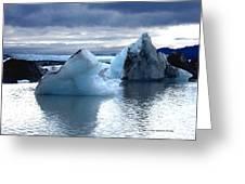 Knik Glacier Icebergs Greeting Card