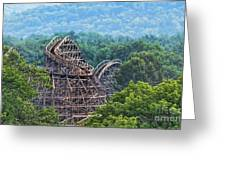 Knobels Wooden Roller Coaster  Greeting Card