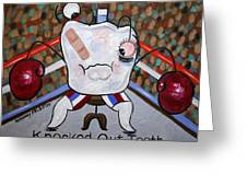 Knocked Out Tooth Greeting Card by Anthony Falbo