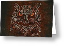 Knotty Owl Greeting Card