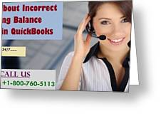 Know About Incorrect Beginning Balance Occurs In Quickbooks Greeting Card